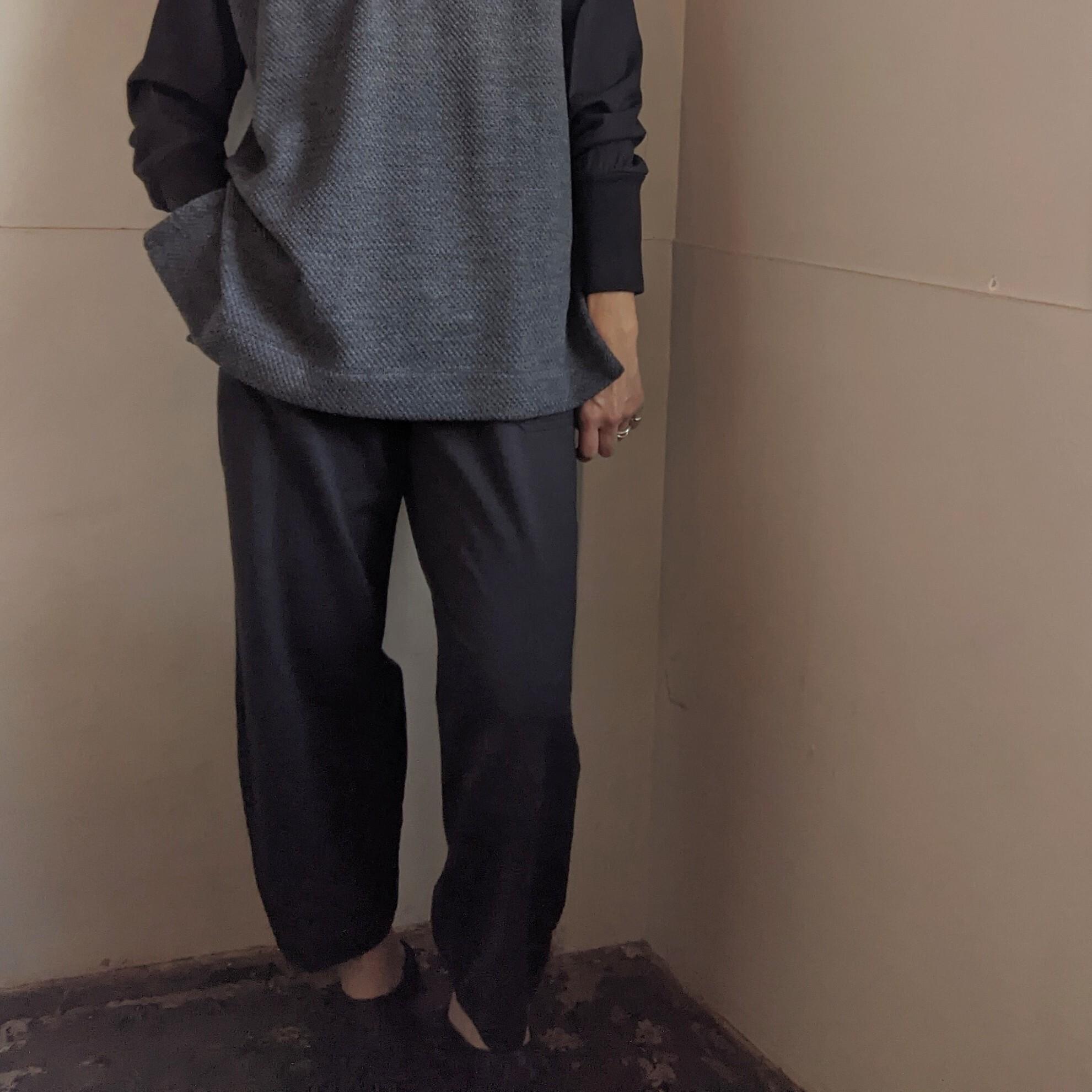 【 CLOSELY CLICK PEBBLE 】クロースリークリックペブル / easy pants イージーパンツ / chacoal チャコール / cotton wool