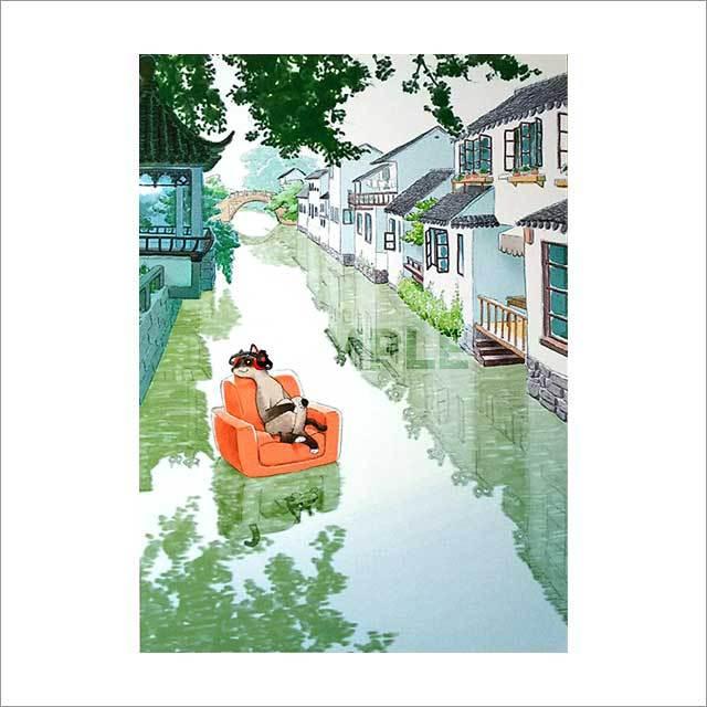 台湾ポストカード 「東方水路-運河」