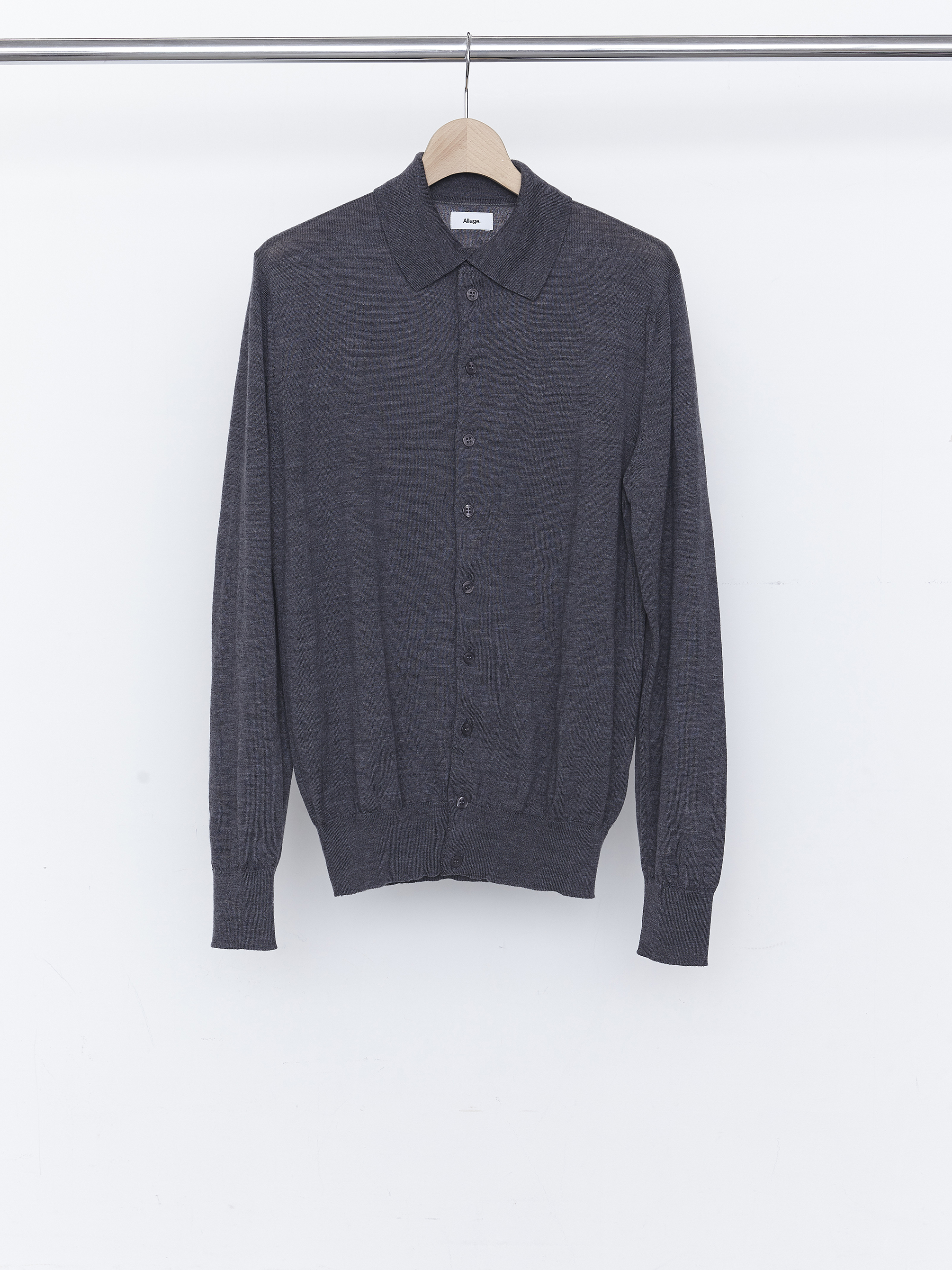 Standard Wool Cardigan - Gray