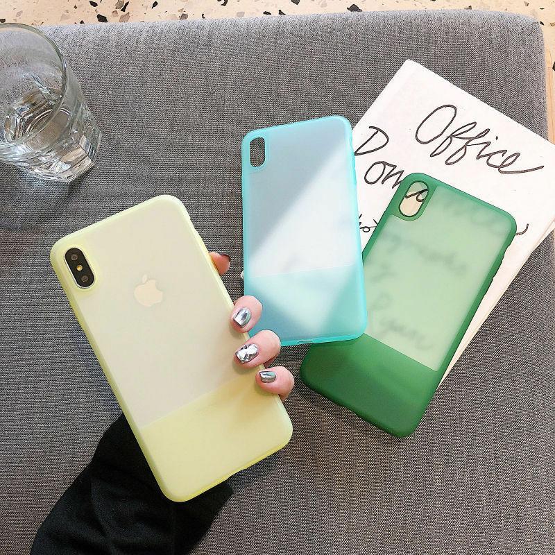 【お取り寄せ商品、送料無料】3カラー 無地 パステル 乳白色 ソフト iPhoneケース iPhone11