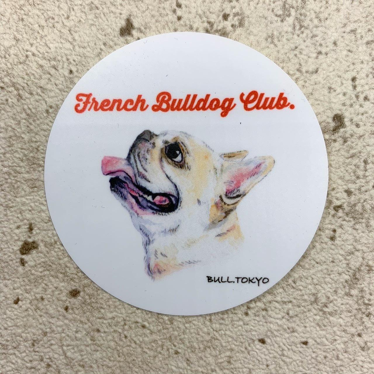 Bull.Tokyo オリジナル ステッカー Part.2 「- French Bulldog Club -」クリーム