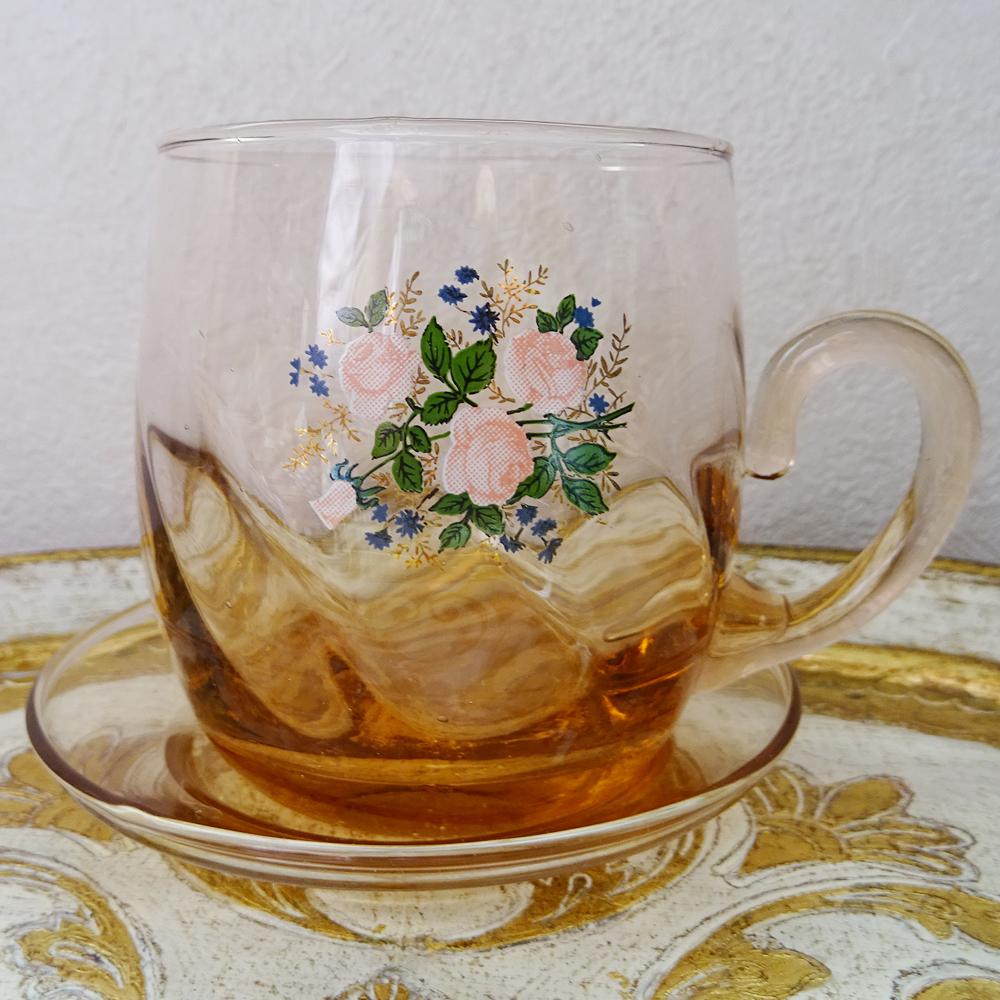 チェコ バラのティーカップ&ソーサー