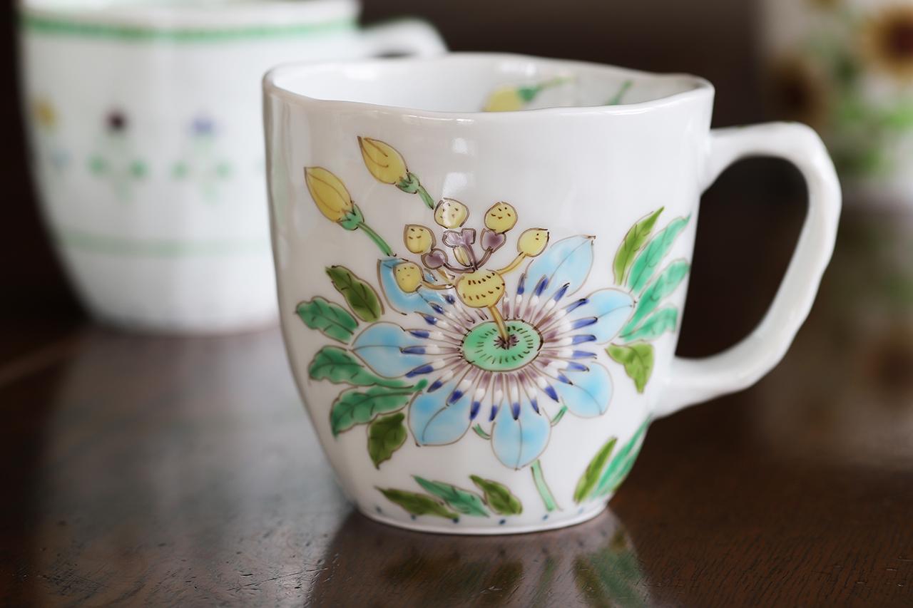 藍水 トケイソウマグカップ(大) うつわ藍水 波佐見焼 人気