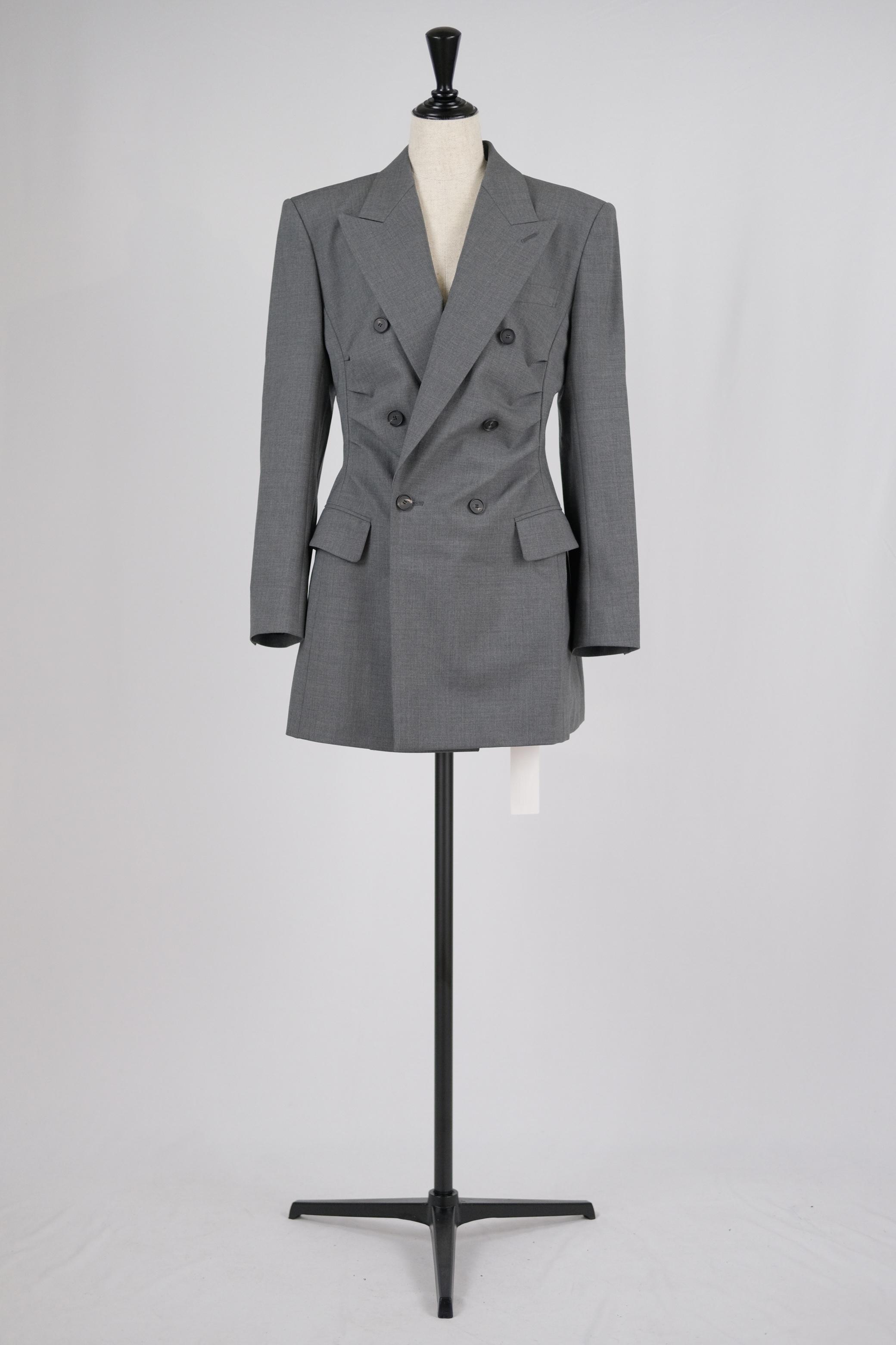 【FETICO】gathered tailored jacket