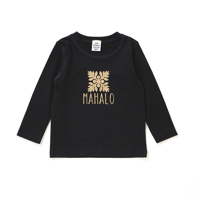 MAHALO キルト柄 ロングスリーブTシャツ