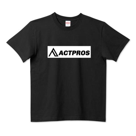 【MEN'S】ACTPROS ボックスロゴ 5.6ハイクオリティーTシャツ(United Athle) ブラック【9colors】