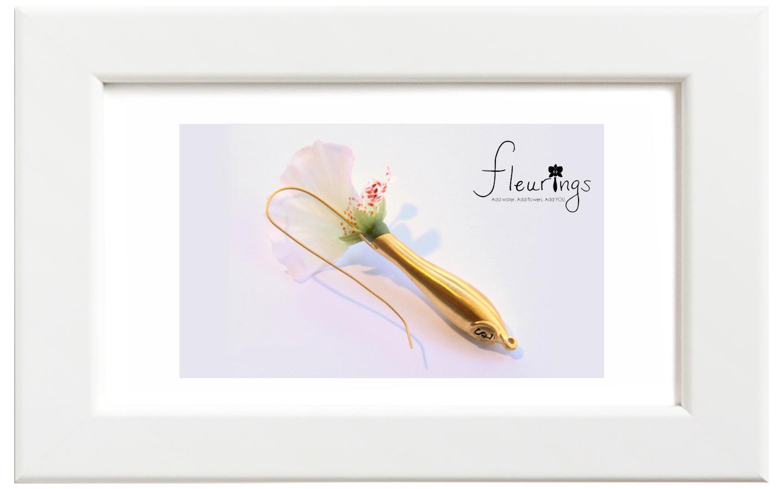 Fleurings/フルーリングス ゴールドブラッシュイヤリング