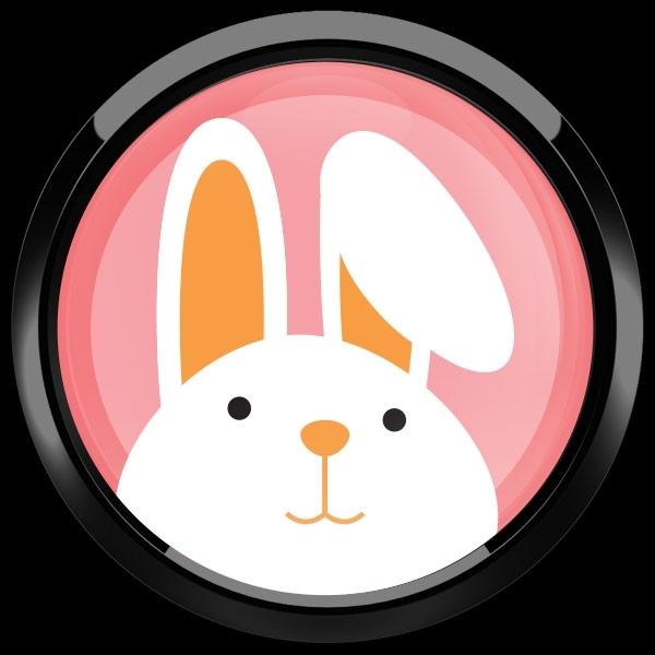 ゴーバッジ(ドーム)(CD0918 - Seasonal EASTER BUNNY) - 画像2