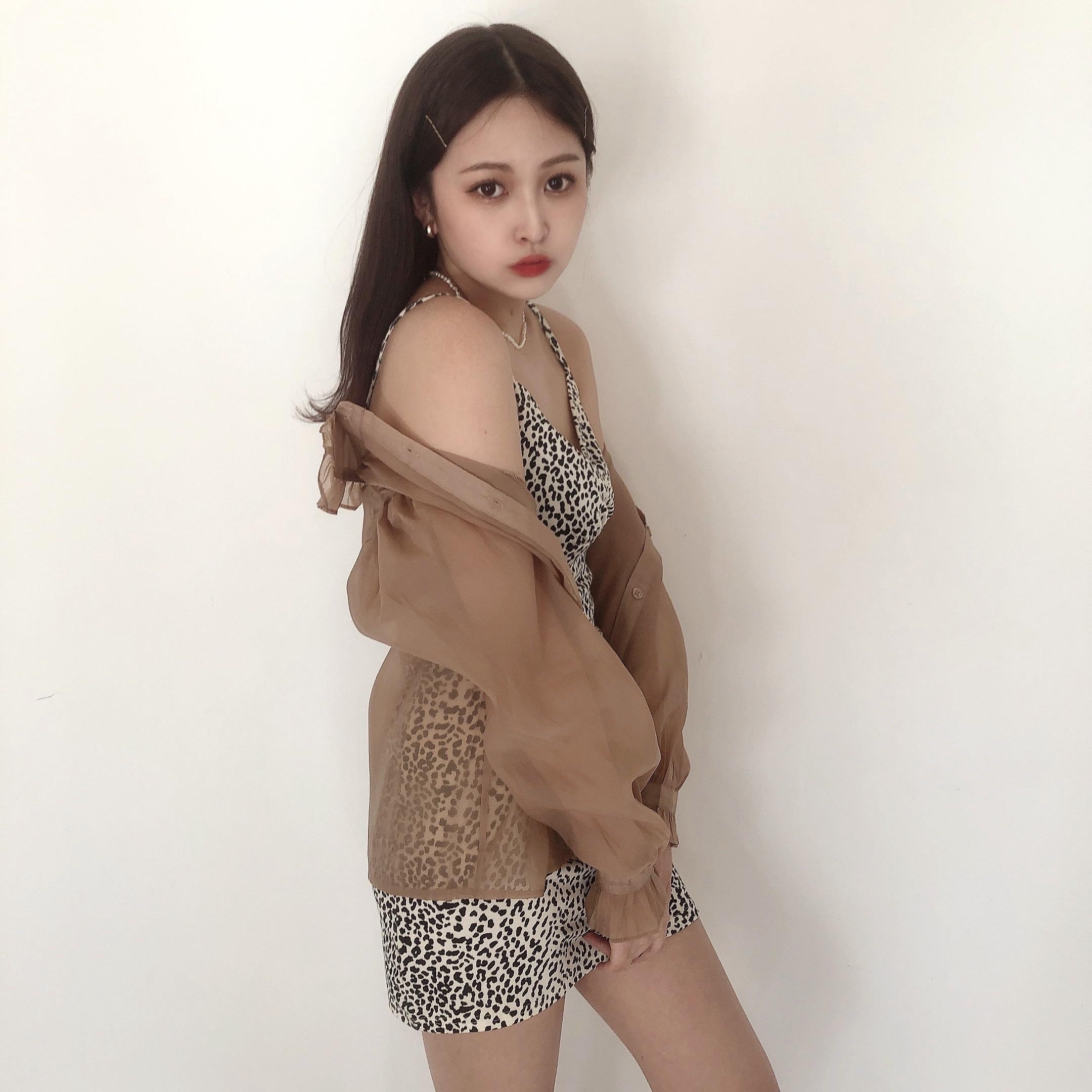 5/18 【RESTOCK】leopard camisole onepiece