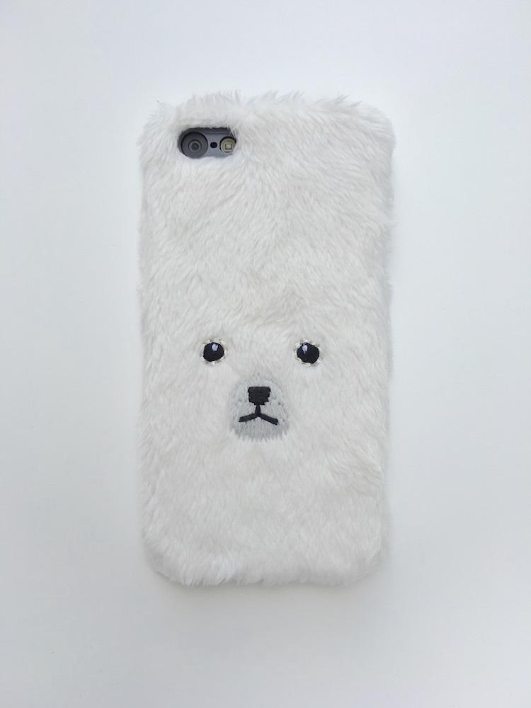 【iPhone5/5s用ハードケース】くまハードケース【ホワイト】