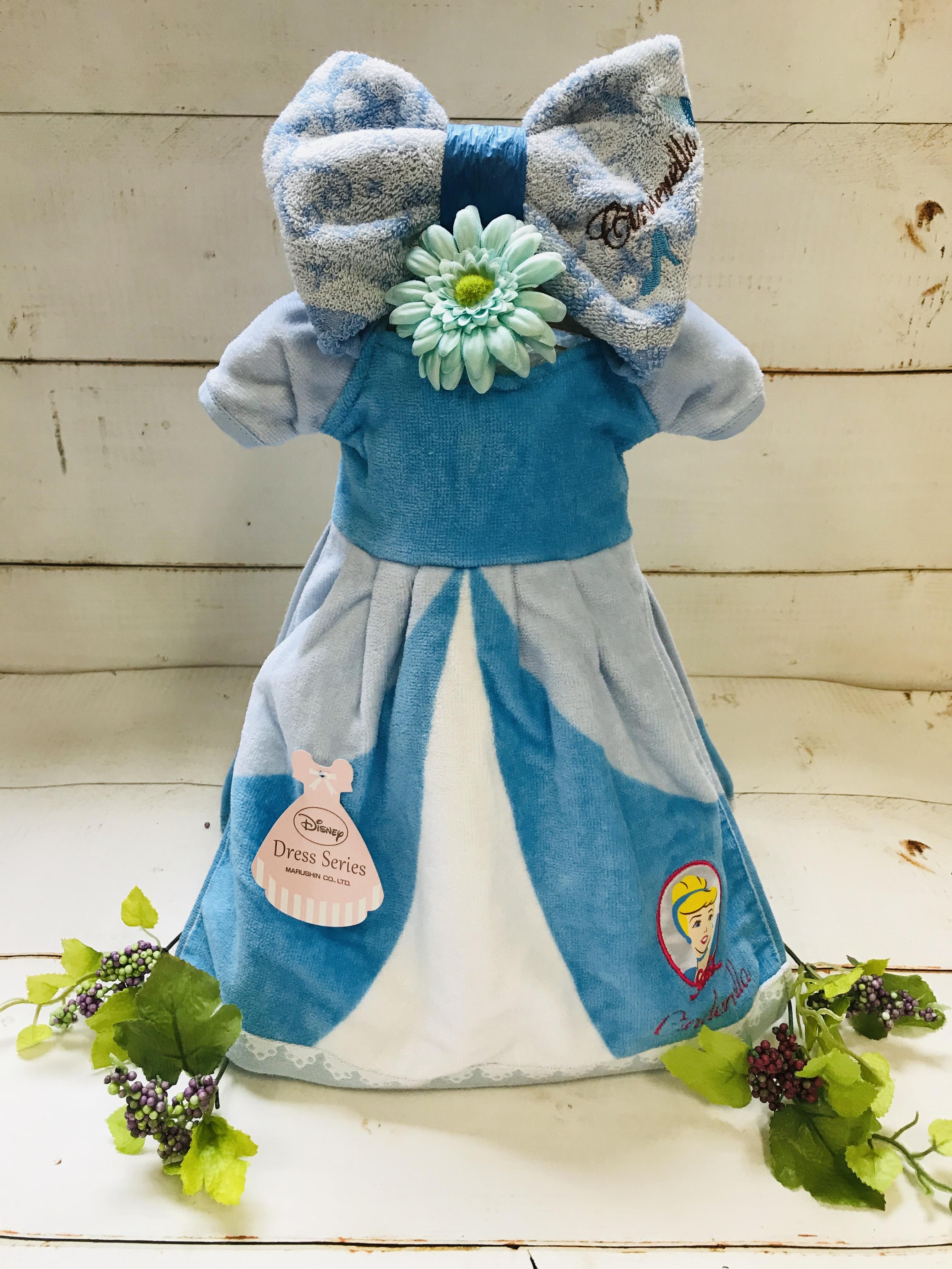 ディズニープリンセス おむつドレス(シンデレラ) おむつケーキ  出産祝い ギフト オシャレ 個性的  かわいい  キャラクター