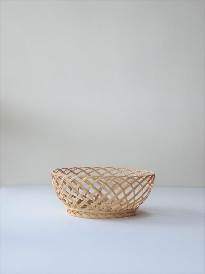 吉田佳道 ささなみかご小 yoshimichi yoshida-bamboo basket small