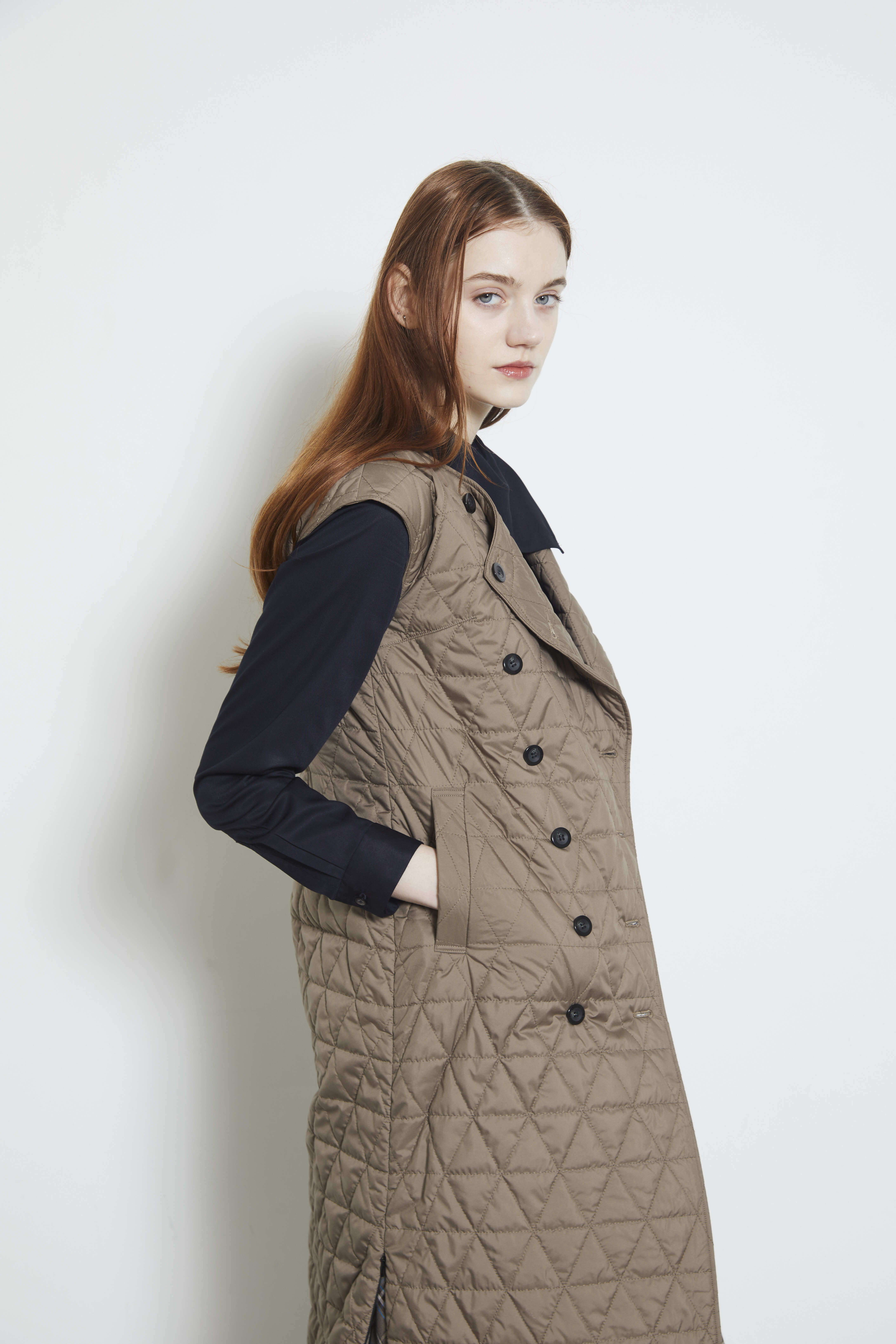 【2021AW先行受注アイテム】QUILT TRENCH DRESS