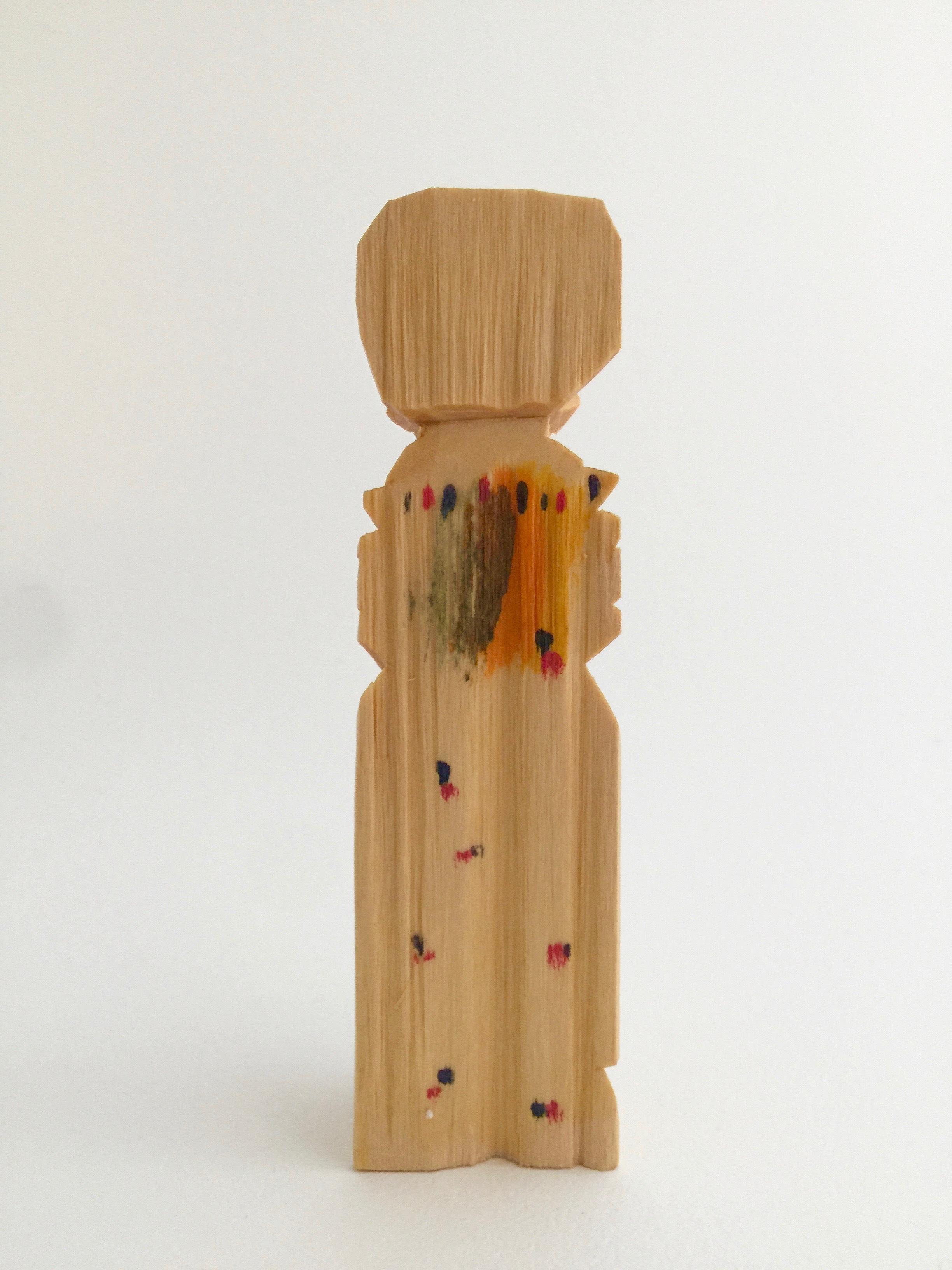 ロシア 木彫り人形(婦人2)