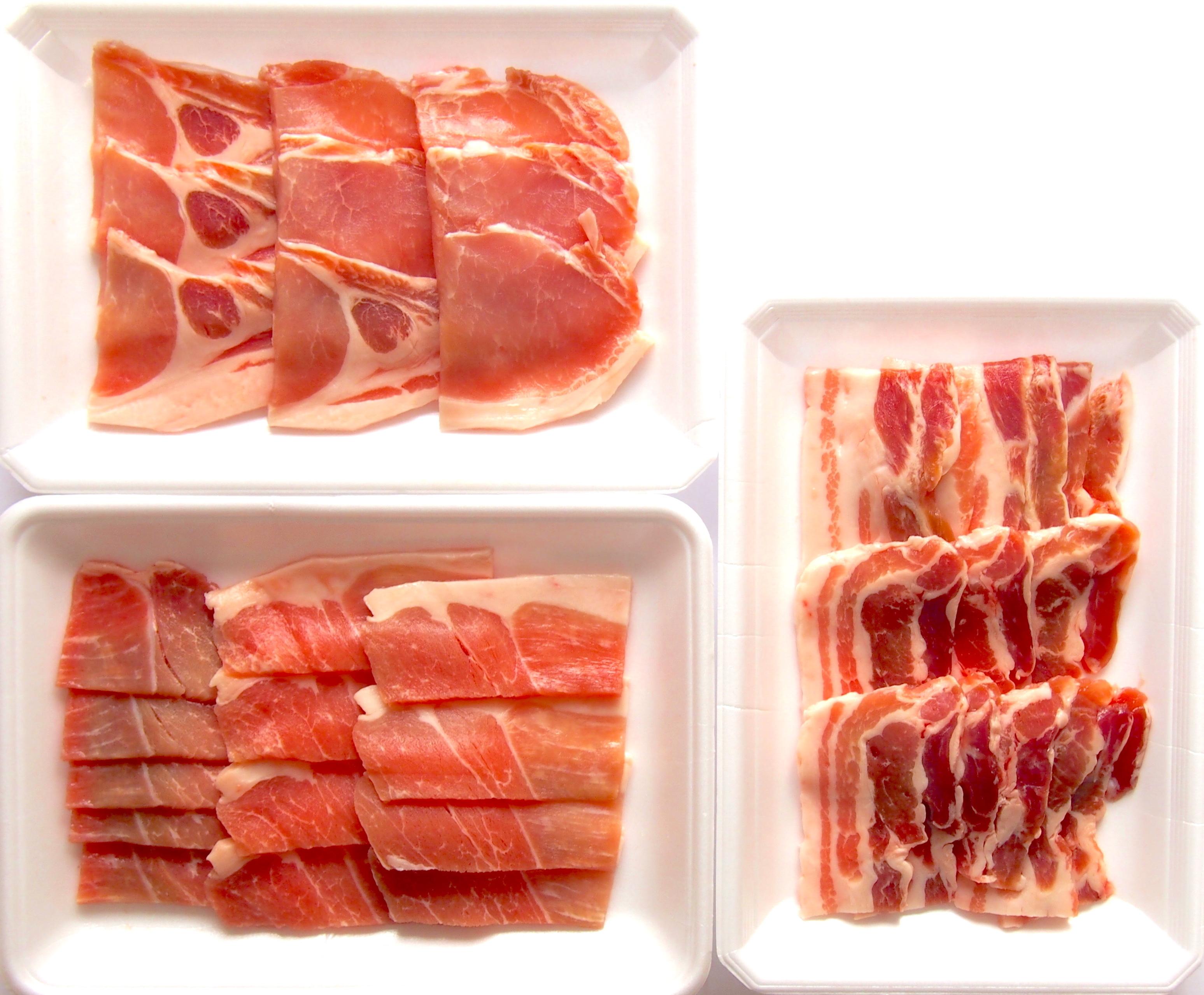 ぴりか豚 焼き肉 人気3部位食べ比べセット【1〜2人用】