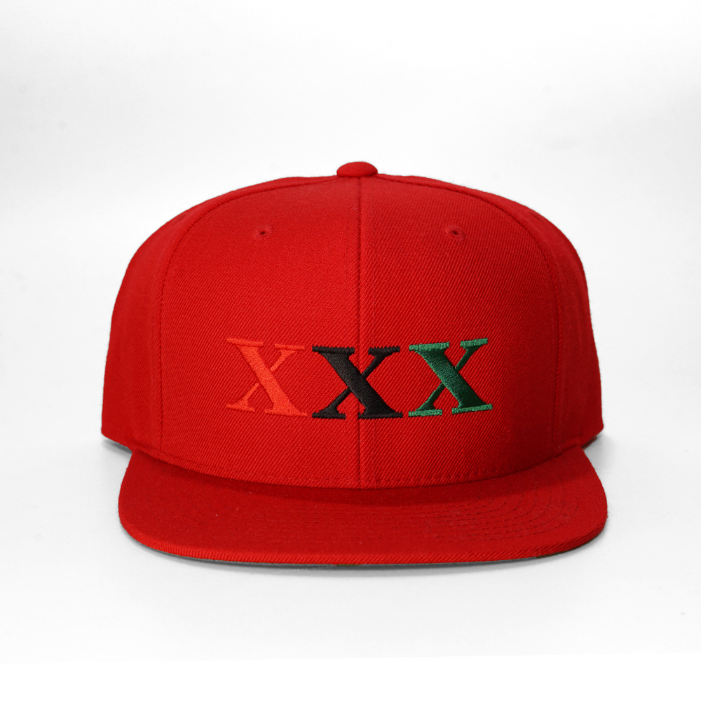 Stay Black Salute XXX 6PANEL SNAPBACK CAP (RED)