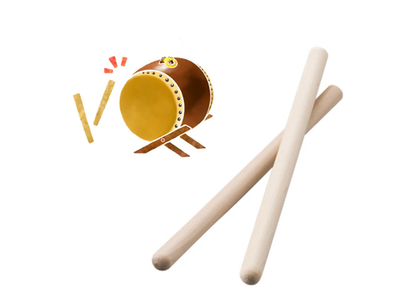 ホオノキの太鼓バチ 2Φ×33cm(2本組)子供におすすめサイズです! ポストIN発送対応商品