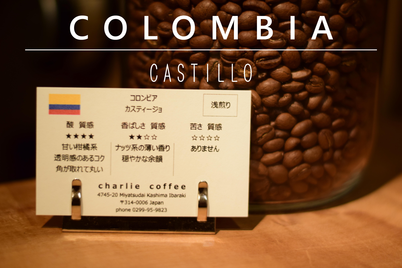 浅煎り/コロンビア カスティージョ 1kg