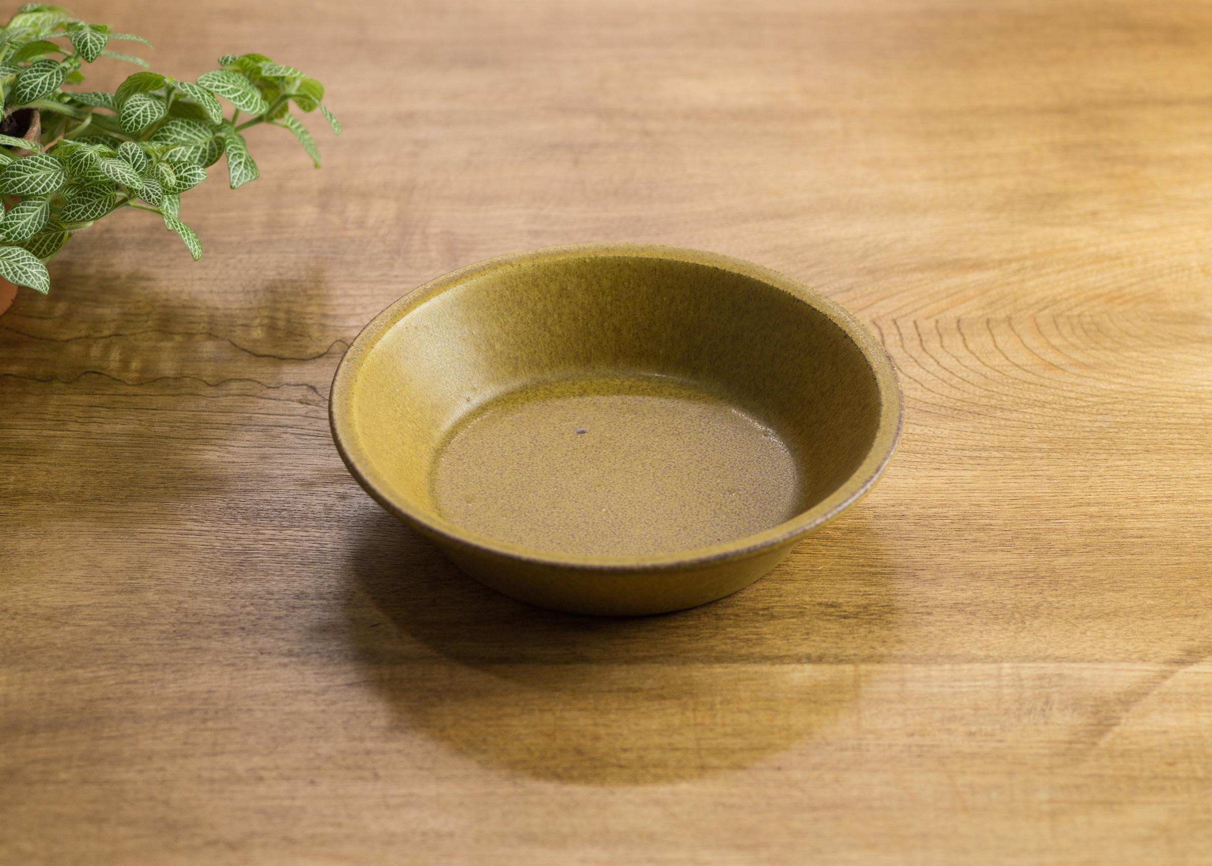 SHIROUMA 浅鉢 18cm 芥子色(深皿・スープボウル・グラタン皿・耐熱皿)/長谷川 哲也