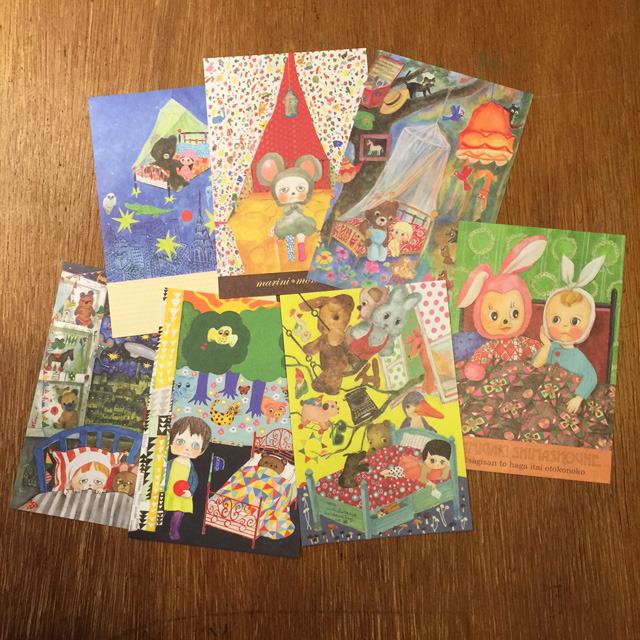 POST CARD set / Bed