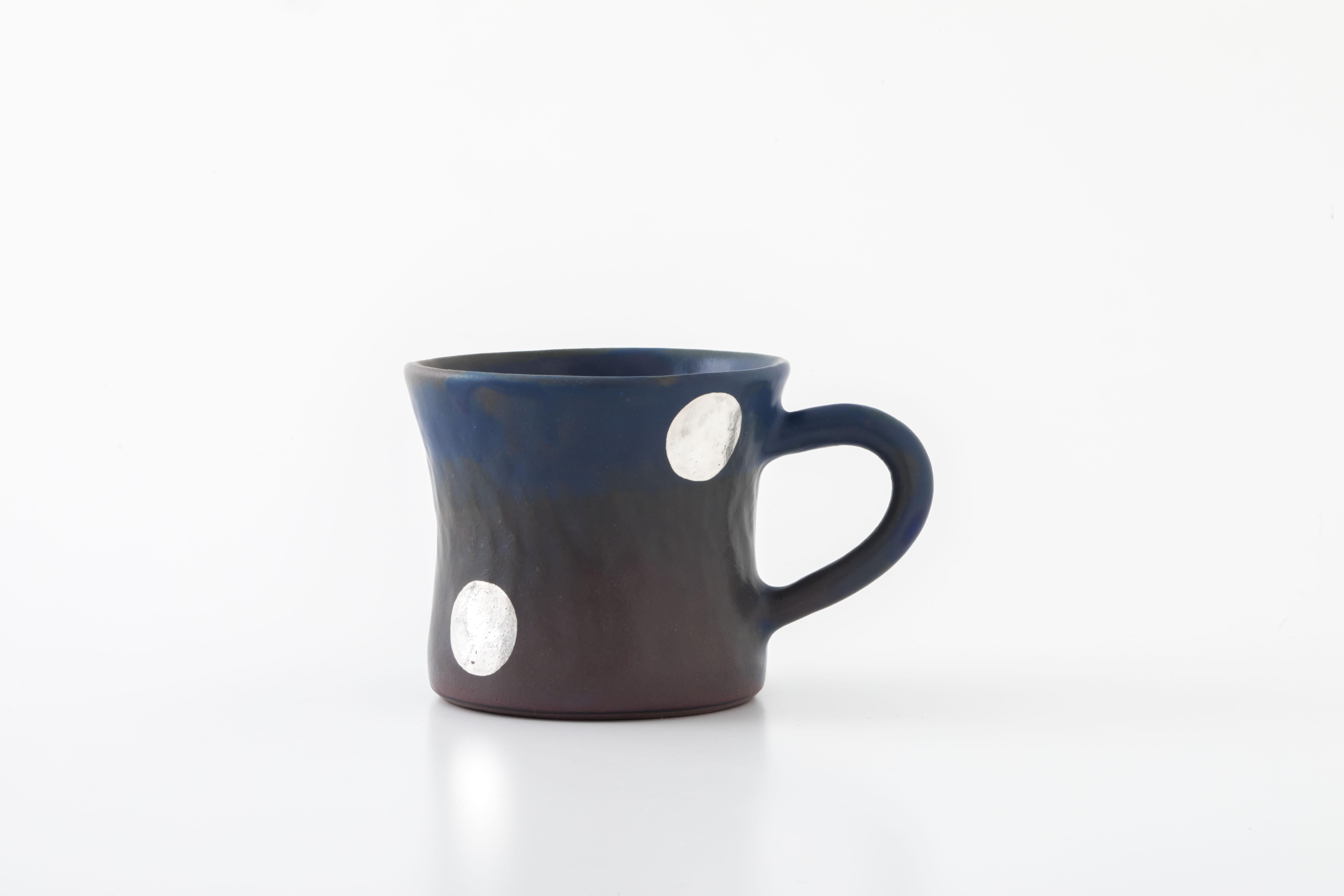 diner mug:銀ドット(06-3) / holk store × 中囿義光
