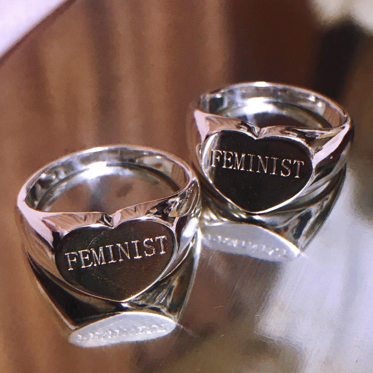 FEMINIST HEART RING