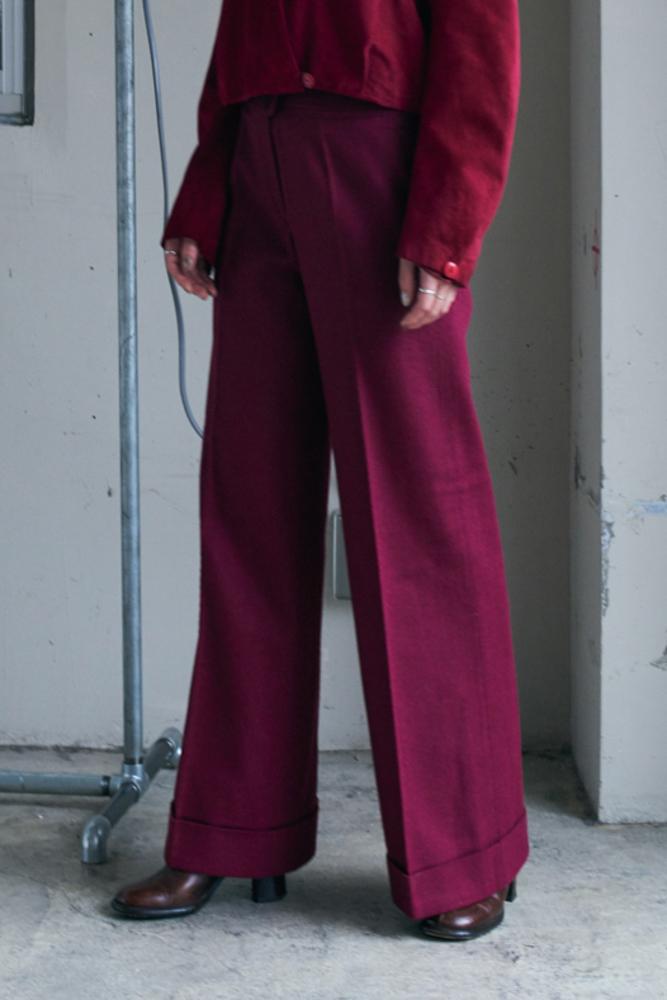 70's Wool Flare Pants