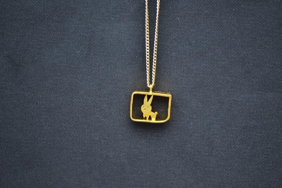 うさこ(四角)金ネックレス
