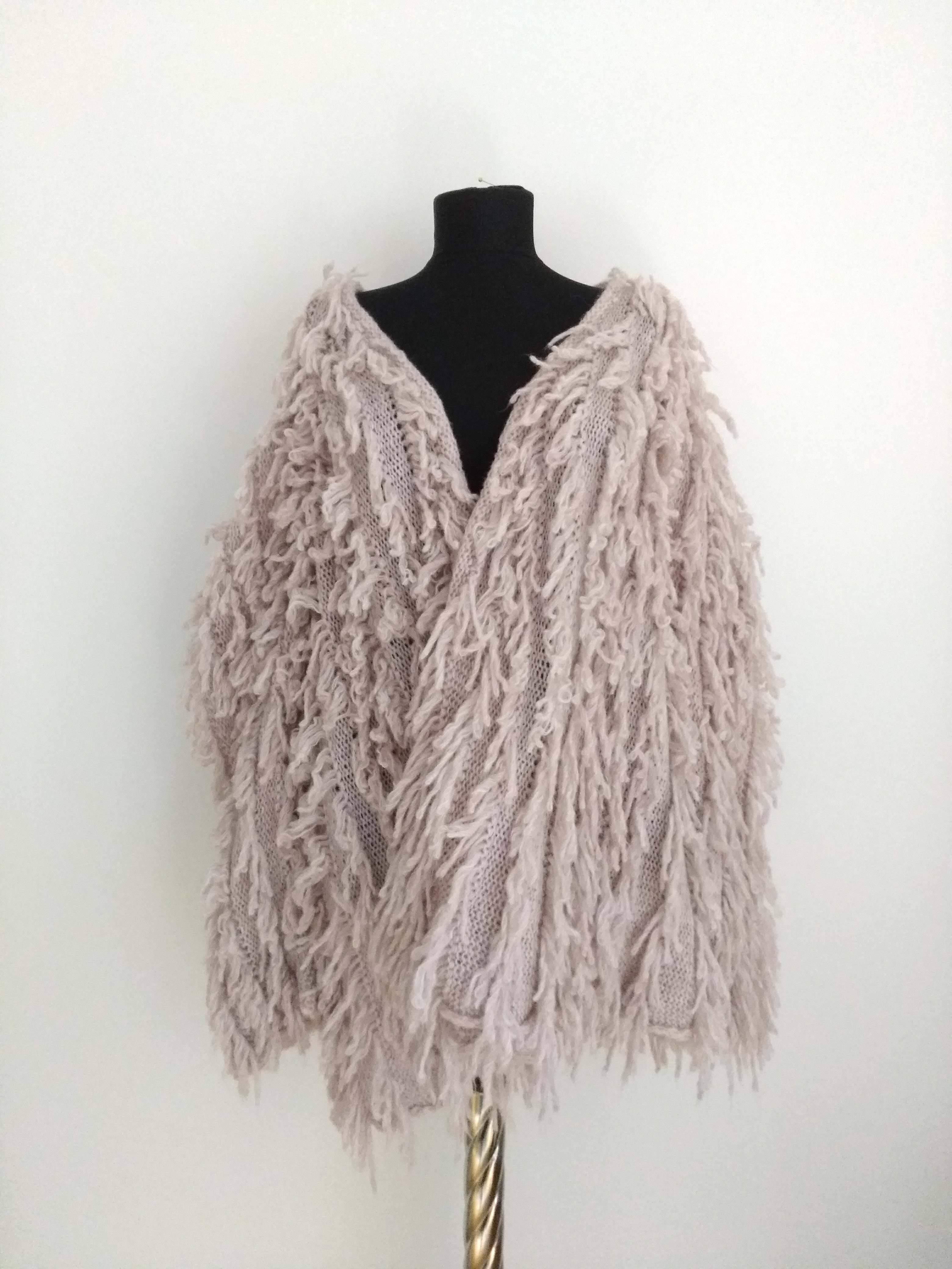 Mohair knitting gown  モヘアニットガウン