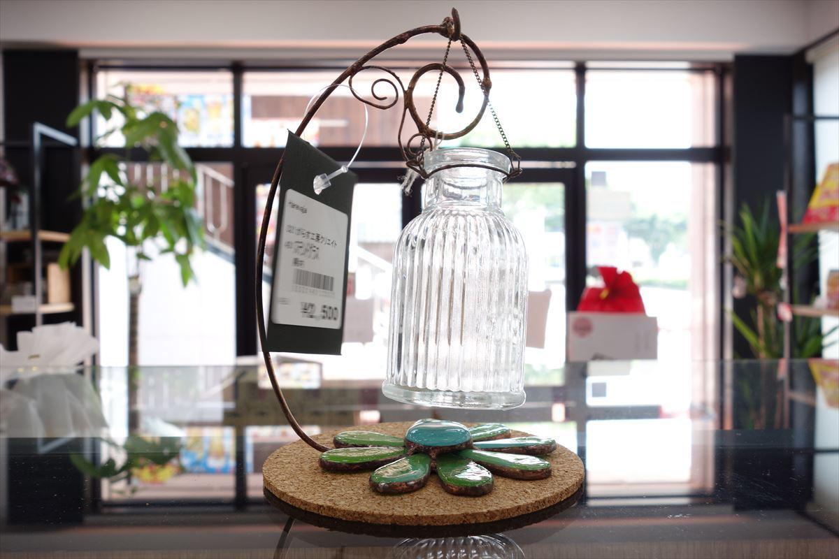 ステンドグラス 瓶と花①
