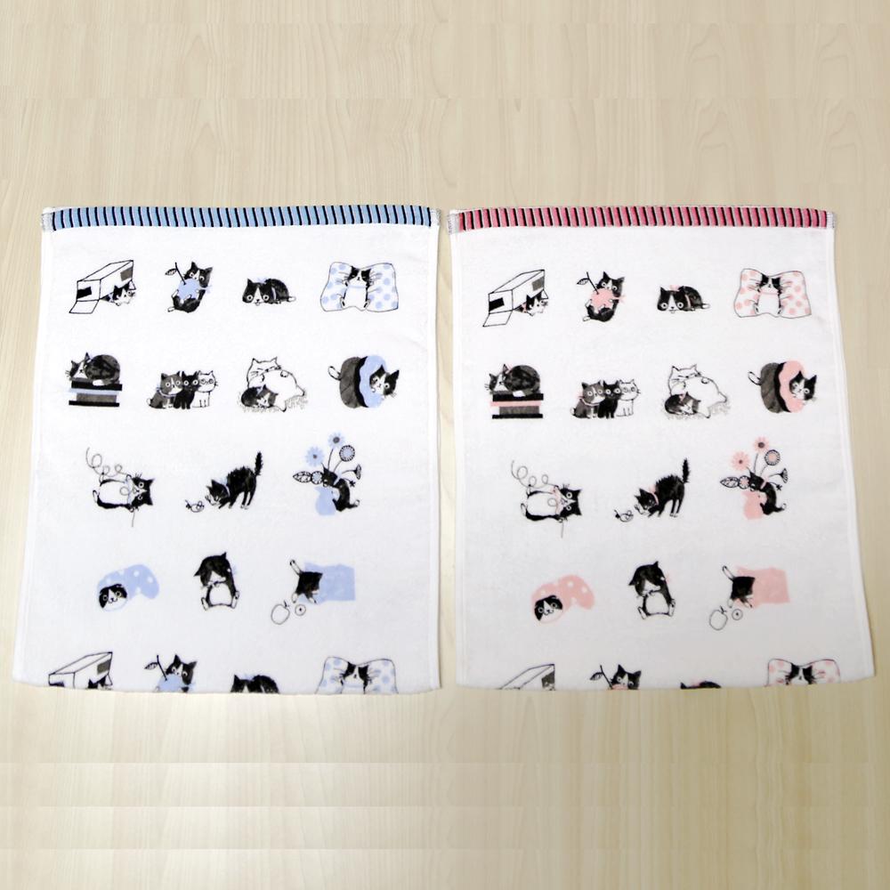 猫フェイスタオル(ネコいっぱい)全2種類