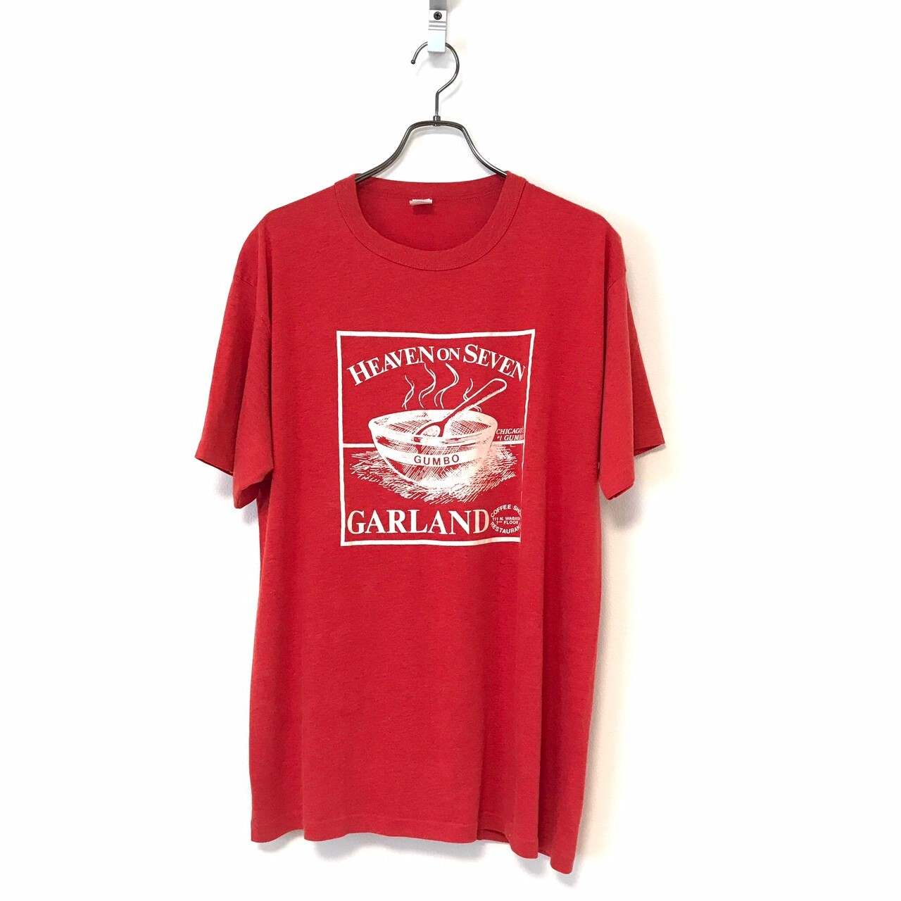 80's Sportswear GARLAND T-shirt size XXL Red