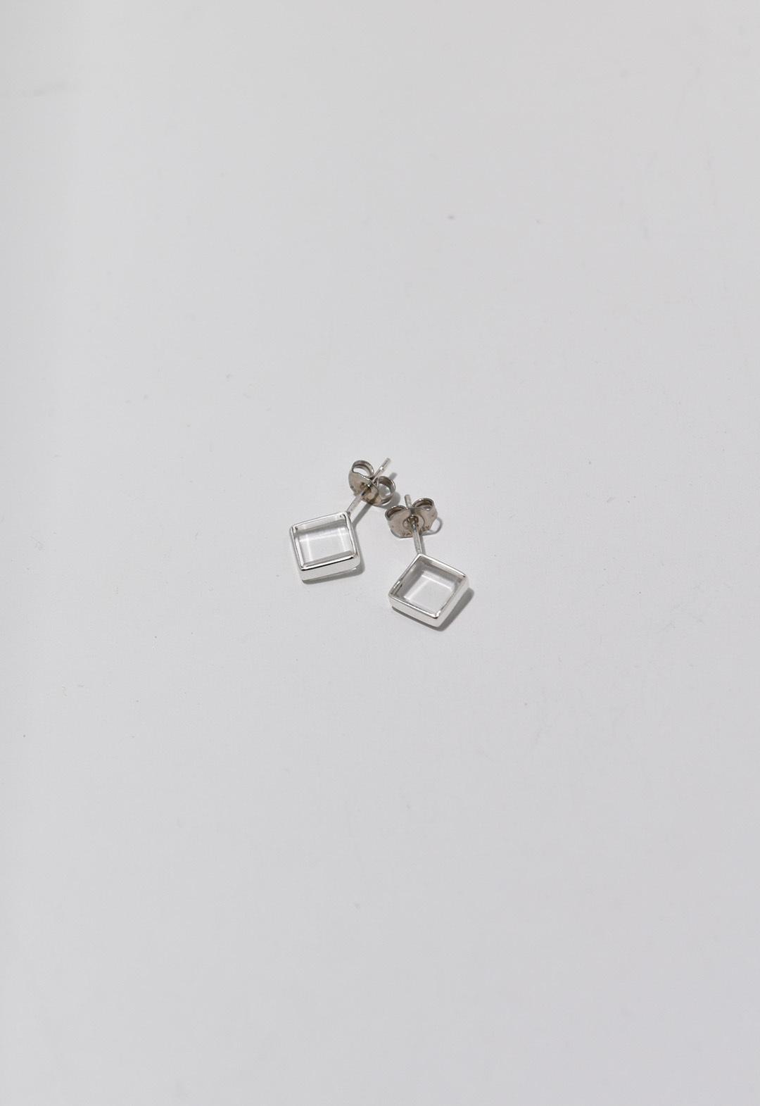 water square pierce Silver