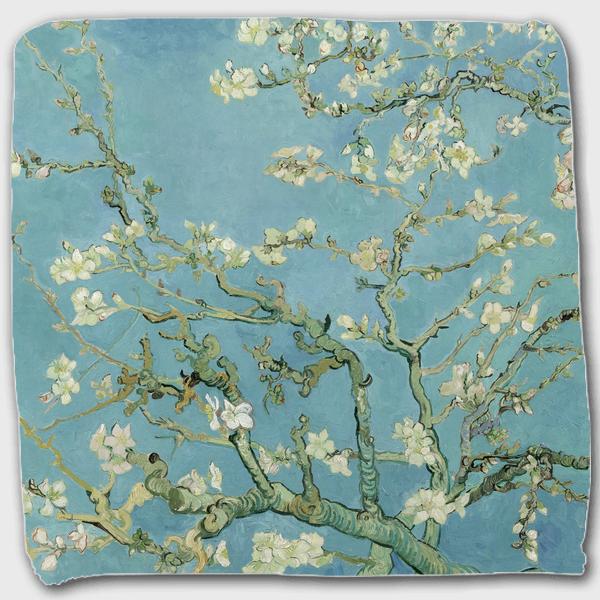 ゴッホ「花咲くアーモンドの木の枝」 ハンドタオル