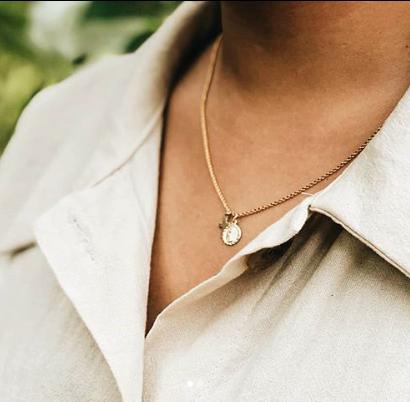 Maria Coin × Cross Necklace