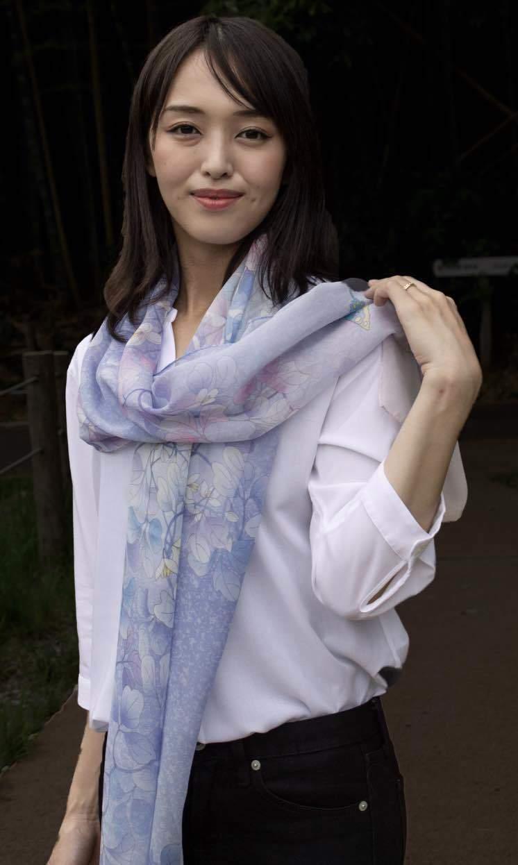 和柄スカーフ「清々」