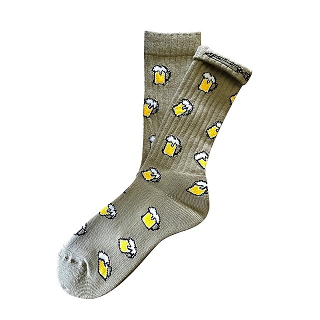 """""""Beer -moss green-"""" Socks (limited edition by EAZY MISS)"""