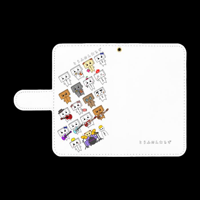 とうふめんたるずの日常 手帳型Androidケース Sサイズ