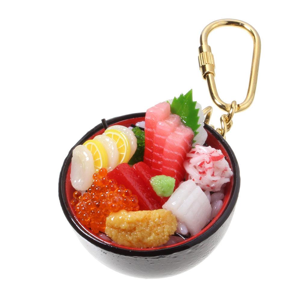 [0221]食品サンプル屋さんのキーホルダー(海鮮丼)【メール便不可】