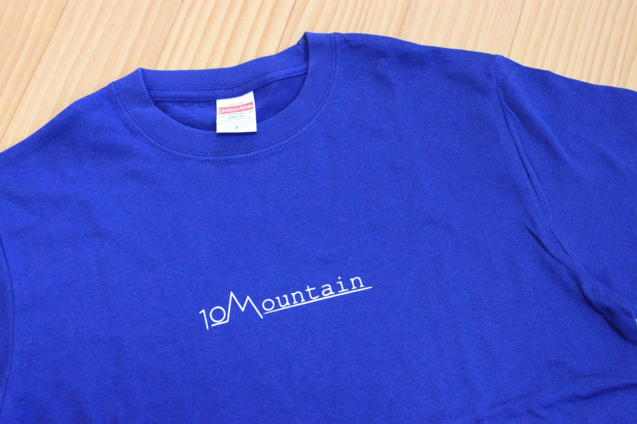 10Mountain シンプルロゴ  インディゴブルー