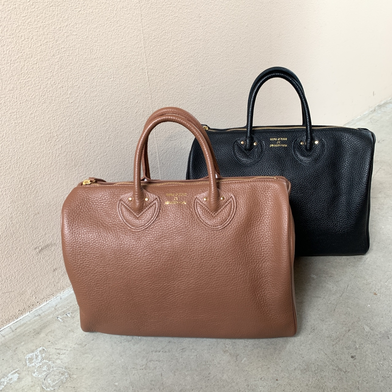 YOUNG&OLSEN - EMBOSSED LEATHER BOSTON S