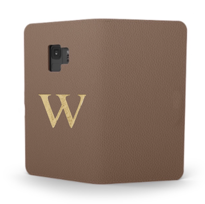Galaxy Premium Smooth Leather Case (Chocolate) : Book Cover