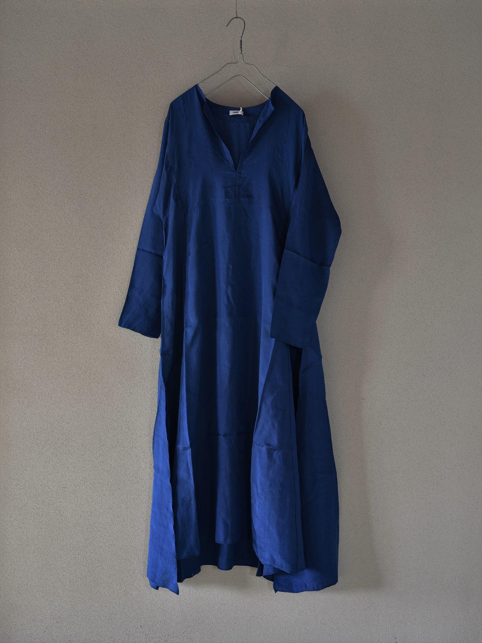 YAECA silk khadi  ラダーステッチドレス 徳島藍