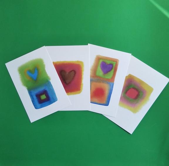 ハートのポストカード4枚セットA☆送料無料