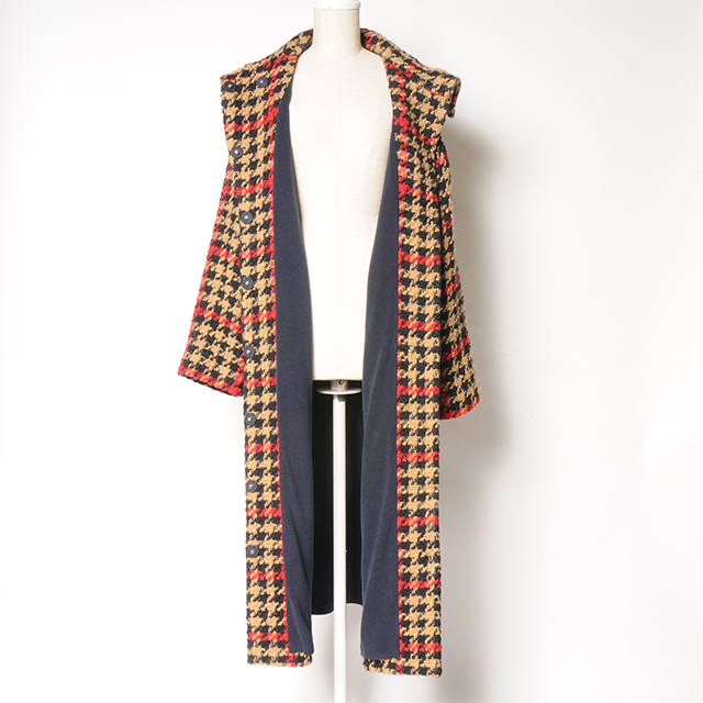 hs18WT-IR08 OVER COAT(CHECK)