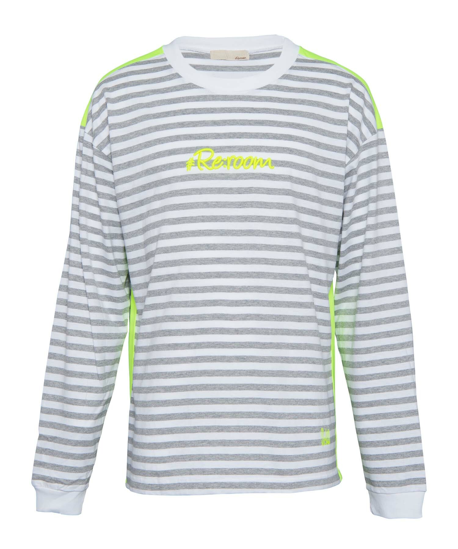 NEON 3D LOGO SIDE LINE BORDER BIG LONG SLEEVE[REC318]