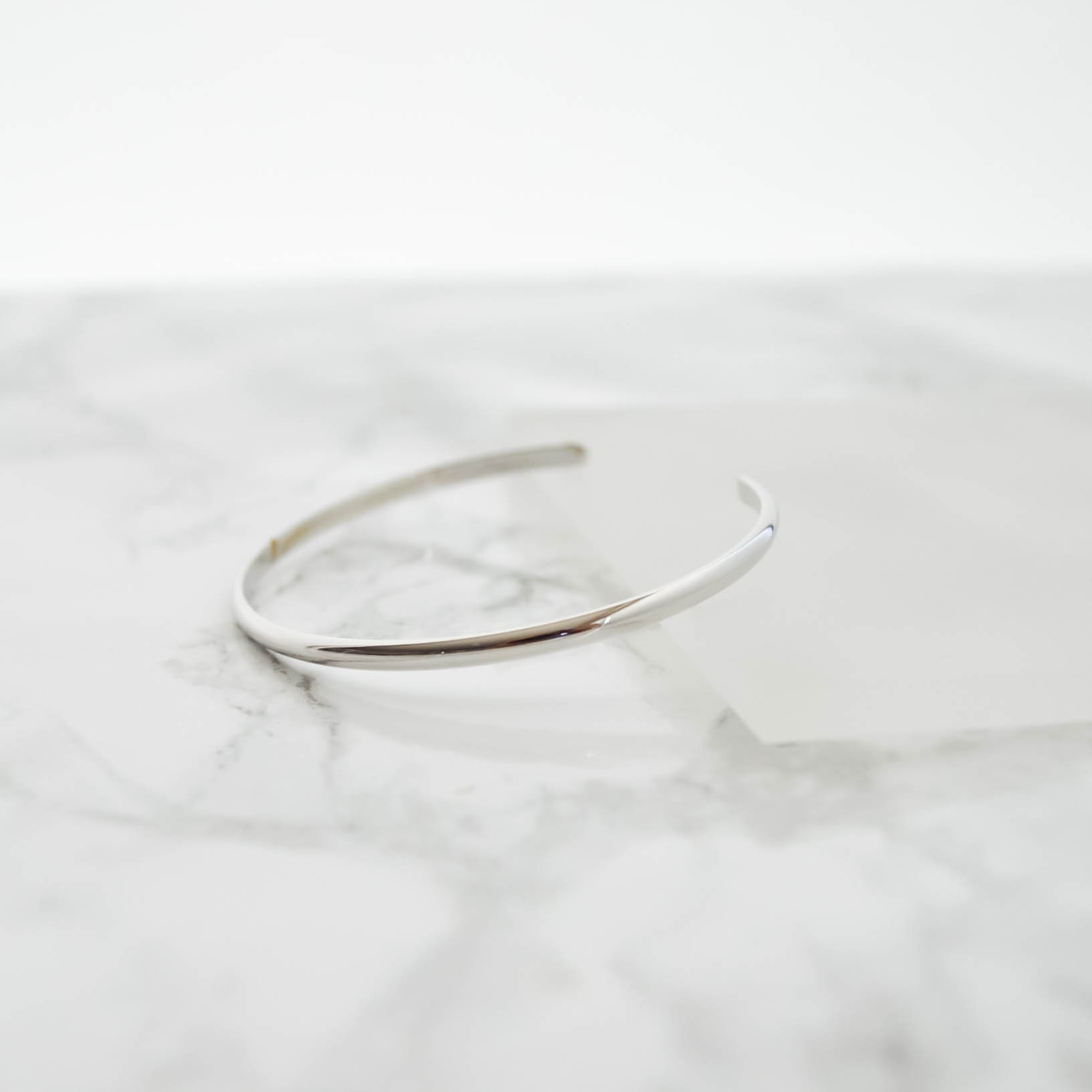 Simple line Bangle(silver)