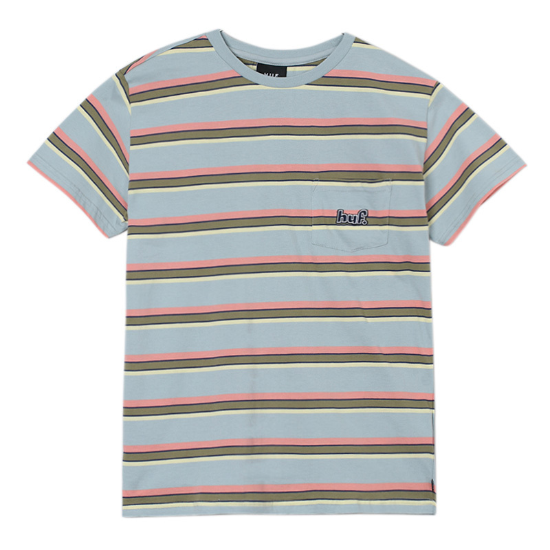 huf 1993 STRIPE S/S KNIT BALLAD BLUE