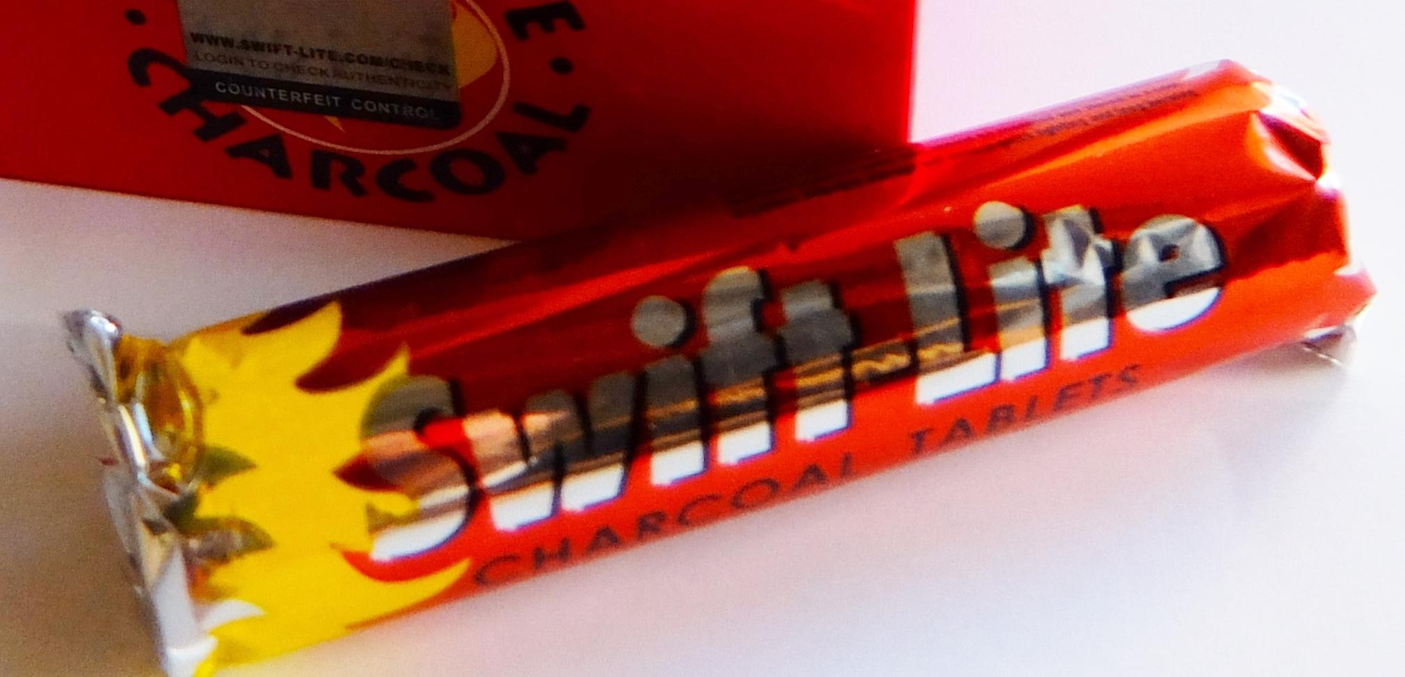 チャコールタブレット 1ロール(10個入)33MM SWIFT LITE製