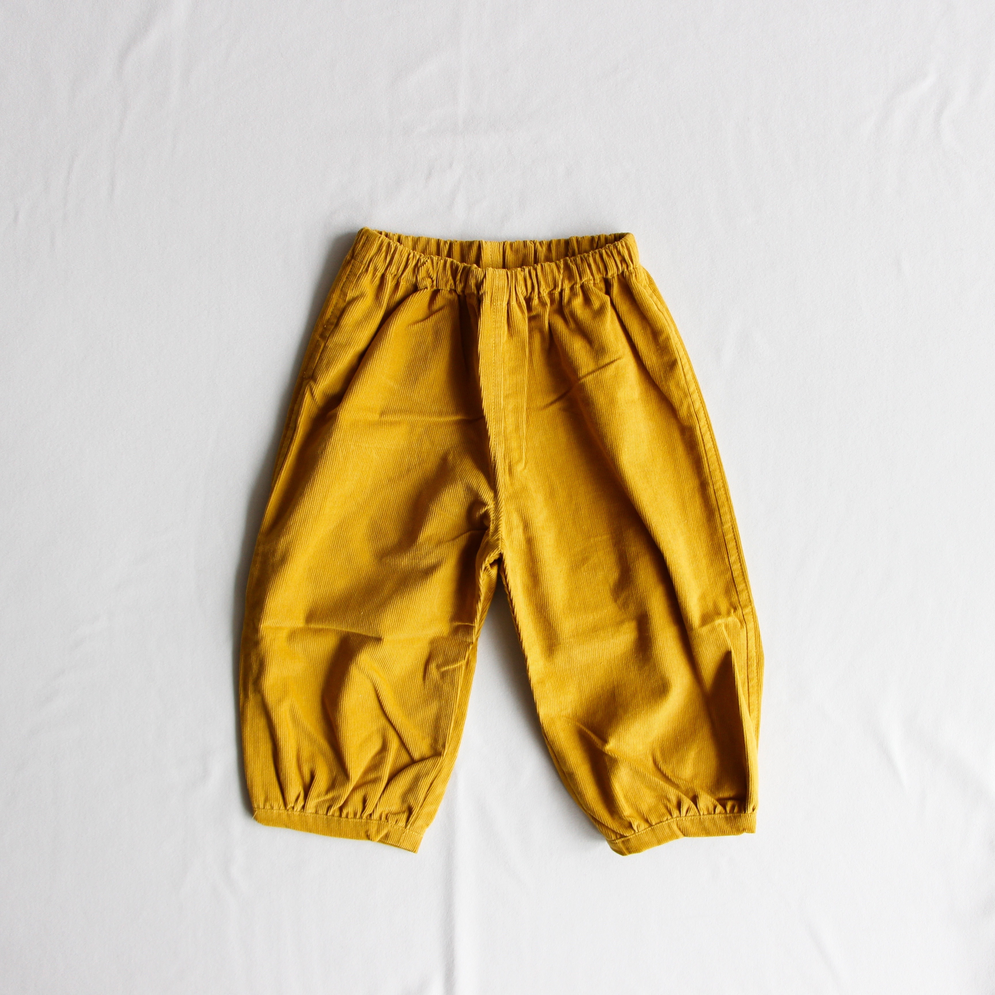《AS WE GROW 2018AW》Bubble Pants / mustard